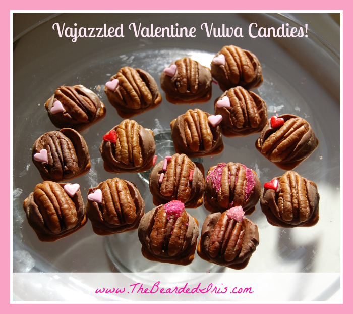 vajazzled valentine vulva candies » the bearded iris, Human Body