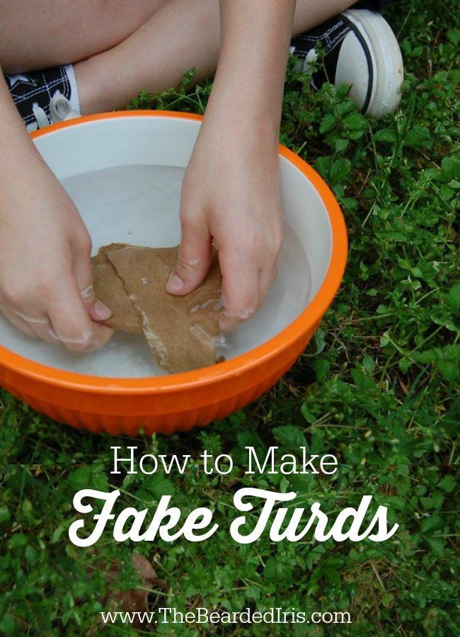 Make your own DIY fake poop out of upcycled cardboard! Funny and practical, kids and fun parents LOVE this easy, green, hilarious craft. Great for pranks!