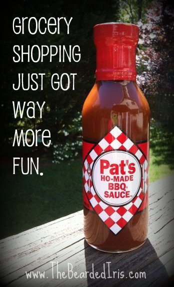 pic of a bottle of Pat's Ho-Made BBQ Sauce