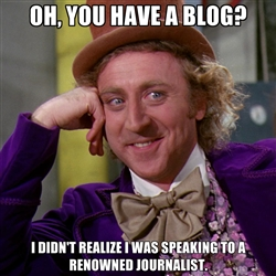 condescending willy wonka on blogging
