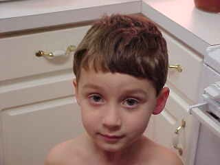 Nature Boy, 4-years-old, the first and last time I ever cut his hair. (circa 2003)