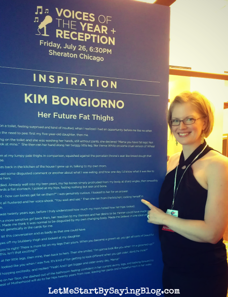 BlogHer13 #VOTY Kim Bongiorno @LetMeStart