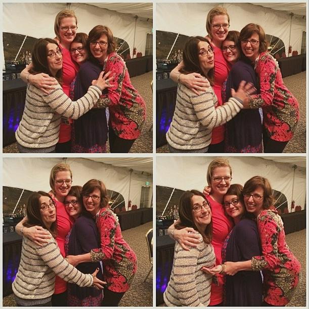 Blogging friends Nicole Leigh Shaw, Kim Bongiorno, Robin O'Bryant, and Leslie Marinelli at #EBWW2014 via The Bearded Iris